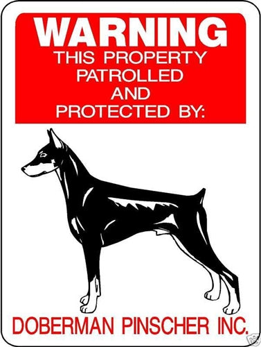 DOBERMAN PINSCHER ALUMINUM DOG SIGNS 728TT
