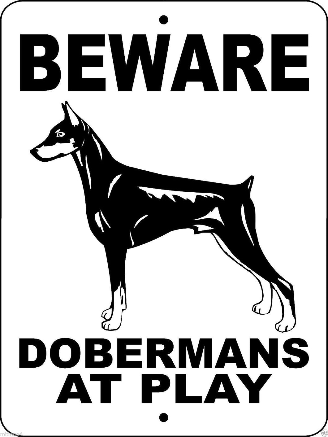 DOBERMAN PINSCHER ALUMINUM DOG SIGNS BDAP2
