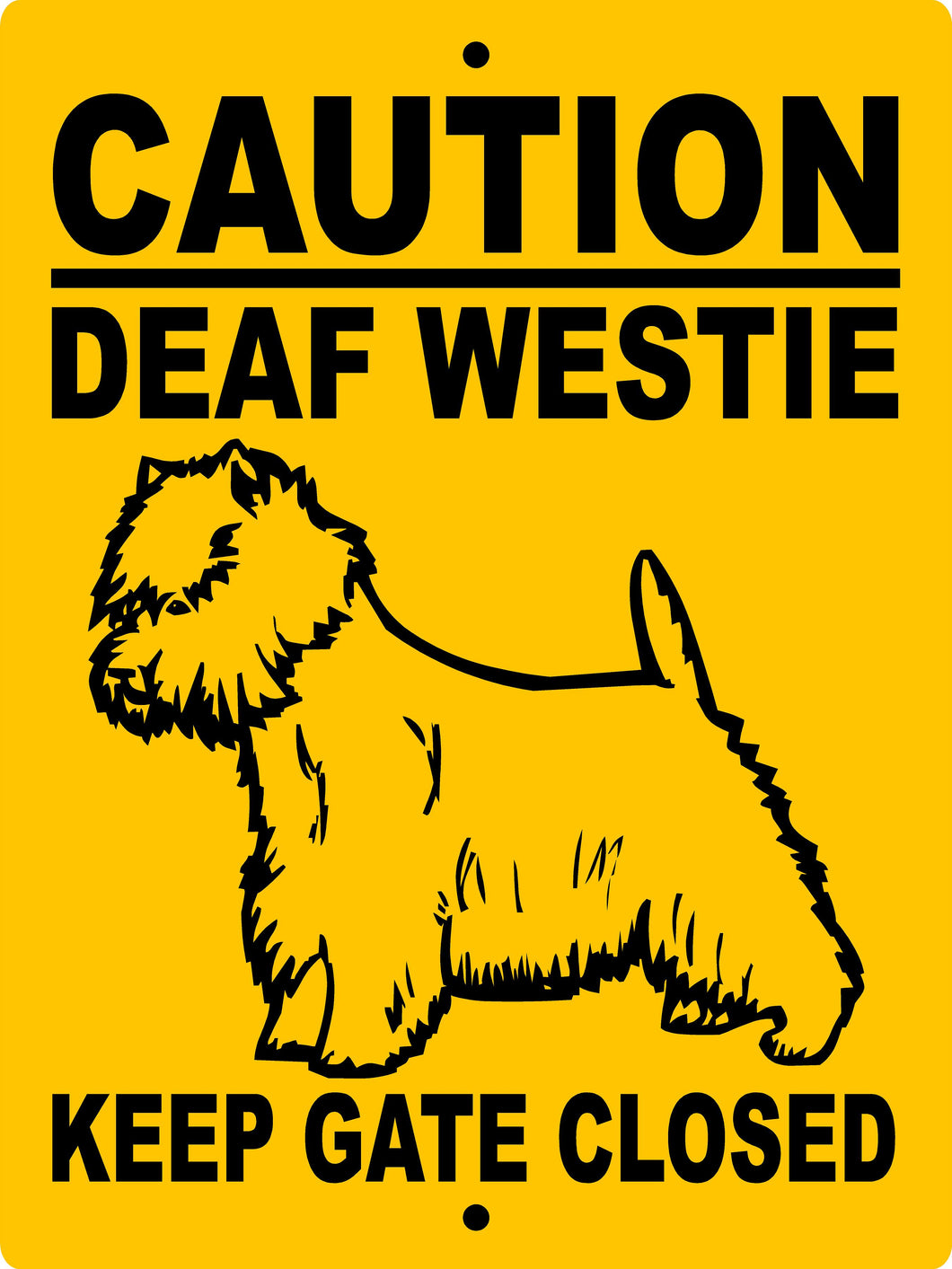 West Highland Terrier Aluminum Dog Sign CDWESTIE