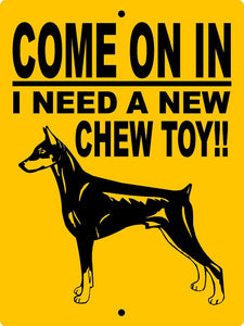 DOBERMAN PINSCHER ALUMINUM DOG SIGNS CTDP