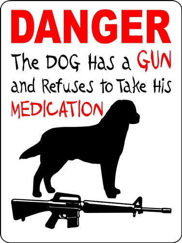 LABRADOR RETRIEVER  ALUMINUM DOG SIGNS DANGER2