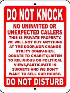 NO SOLICITING  ALUMINUM  SIGN DNKS1
