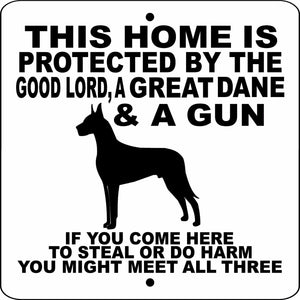 "GREAT DANE ALUMINUM 9""x9"" DOG SIGN GLGDG9x9"