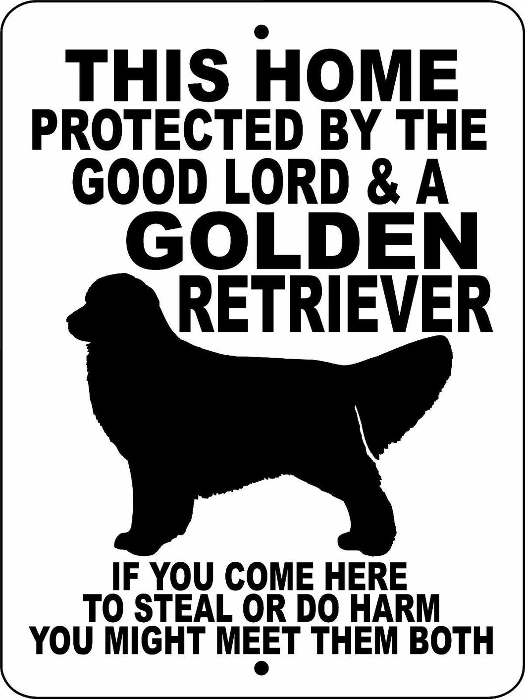 GOLDEN RETRIEVER  ALUMINUM DOG SIGNS GLGR