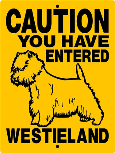 West Highland Terrier Aluminum Dog Sign H2047A