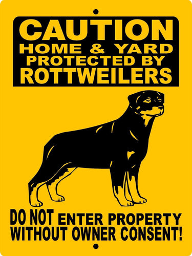 ROTTWEILER DOG SIGN WUSROTT