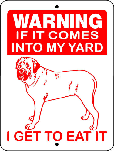 MASTIFF, BULL MASTIFF, ENGLISH MASTIFF, ALUMINUM DOG SIGN H2652AA