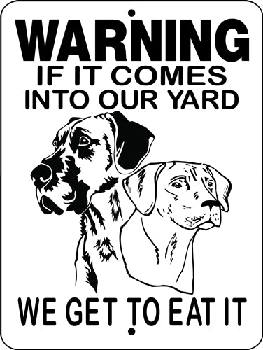 GREAT DANE ALUMINUM DOG SIGN H2652GDRR
