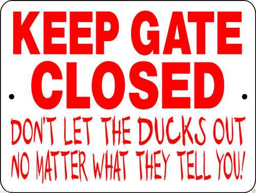 DUCKS AND GEESE ALUMINUM SIGNS H3125DK