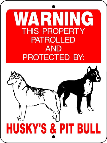 PITBULL, PIT BULL, ALUMINUM DOG SIGNS H728HPB