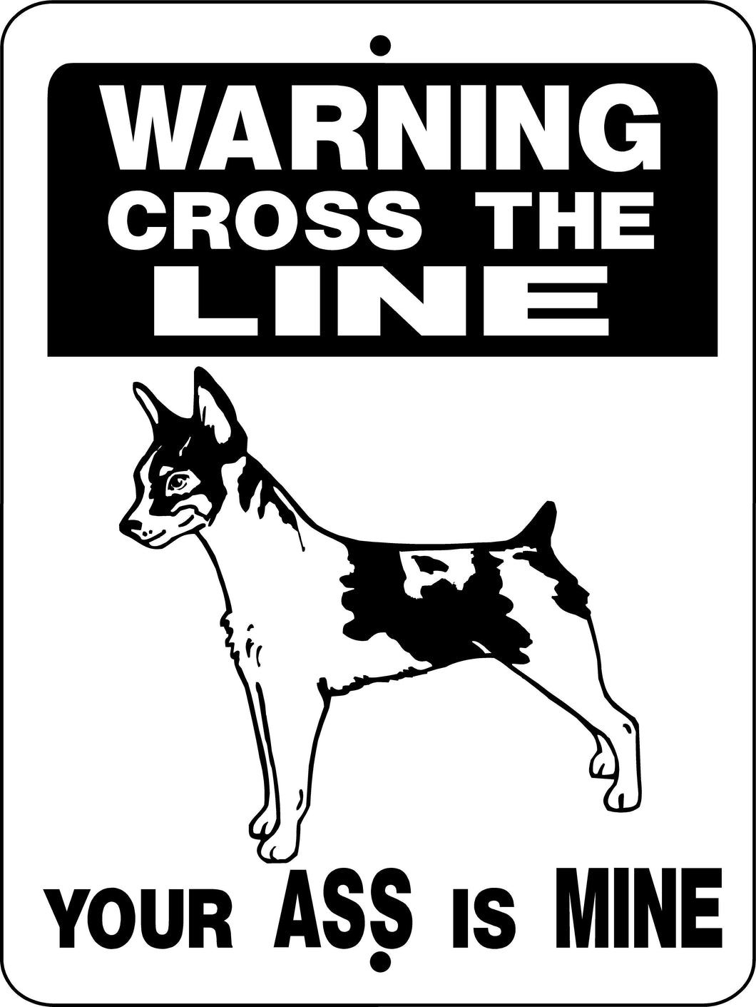 RAT TERRIER ALUMINUM DOG SIGN H827