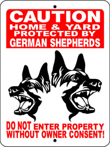 GERMAN SHEPHERD ALUMINUM SIGN HGSM1