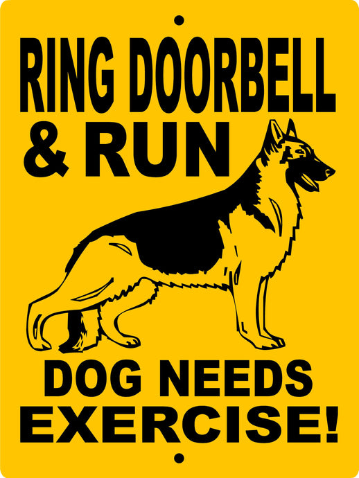 GERMAN SHEPHERD ALUMINUM SIGN RDGS
