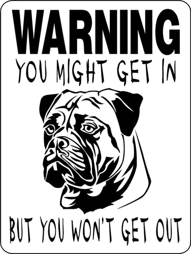 MASTIFF, BULL MASTIFF, ENGLISH MASTIFF, ALUMINUM DOG SIGN W9