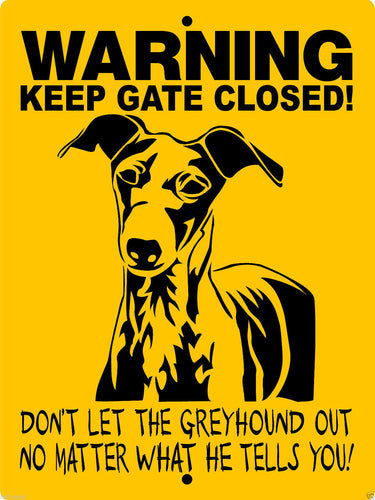 GREYHOUND DOG SIGN WKGCGH1