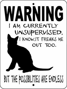 NO SOLICITING CAT ALUMINUM SIGN WUSCAT