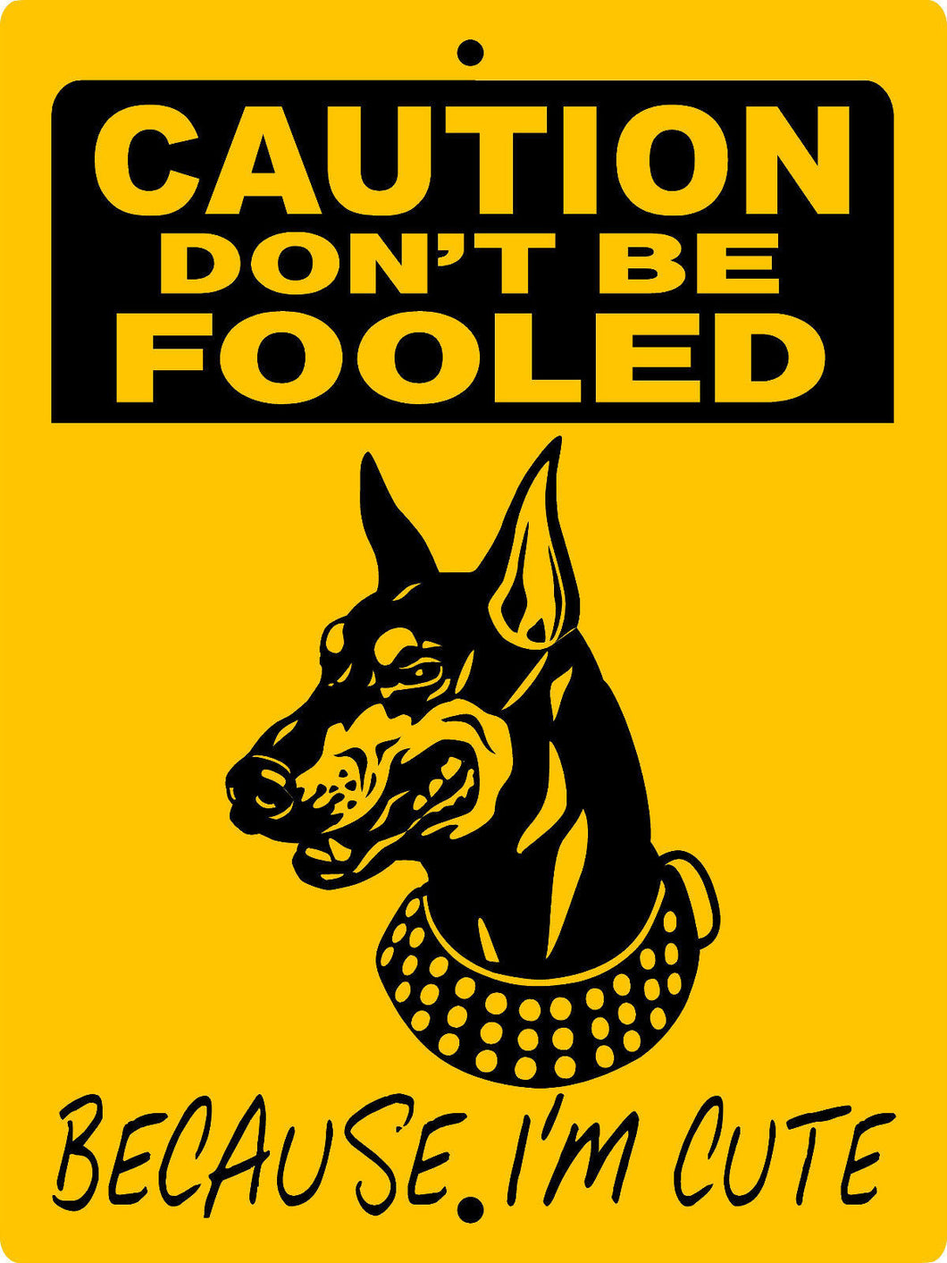 DOBERMAN PINSCHER ALUMINUM DOG SIGNS BICDP1