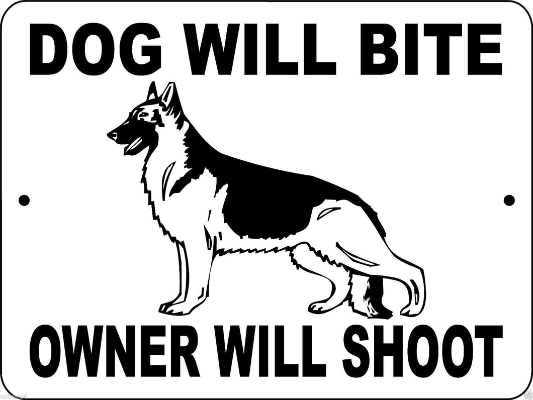 GERMAN SHEPHERD DOG SIGN DWBOWS1