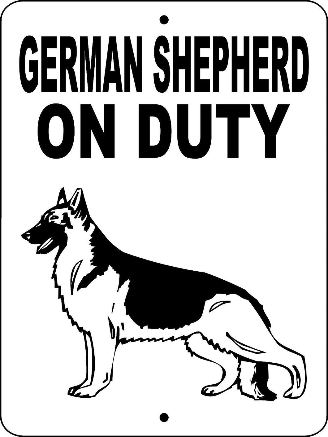 GERMAN SHEPHERD DOG SIGN GLOD1A