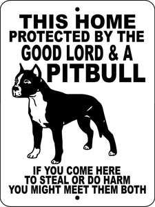 PITBULL, PIT BULL, ALUMINUM DOG SIGNS GLPB1