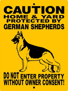 GERMAN SHEPHERD DOG SIGN H2496HGSV2