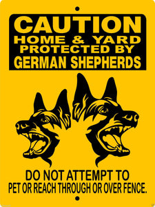 GERMAN SHEPHERD DOG SIGN H2497FV2