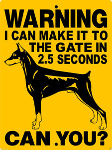 DOBERMAN PINSCHER ALUMINUM DOG SIGNS H2827DC