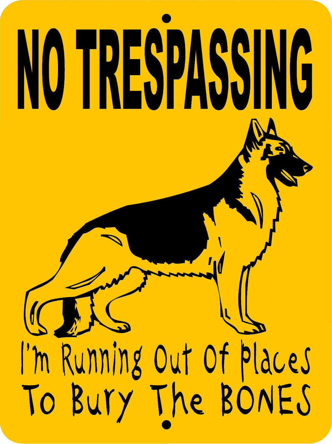 GERMAN SHEPHERD DOG SIGN HPMO3NT
