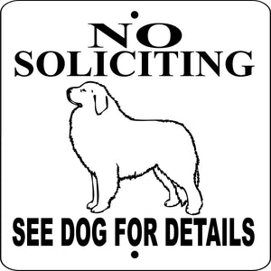 GREAT PYRENEES  ALUMINUM DOG SIGN NSGP9X9W