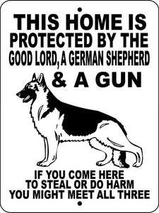 GERMAN SHEPHERD DOG SIGN GLGSGUN