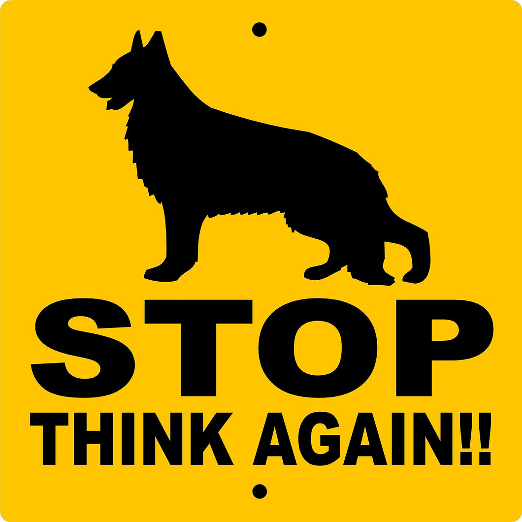 GERMAN SHEPHERD ALUMINUM SIGN STAGSY9X9
