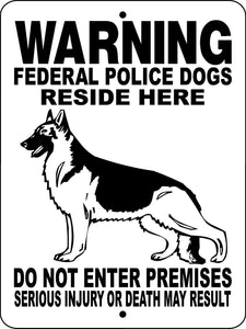 GERMAN SHEPHERD DOG SIGN WFPDOGS