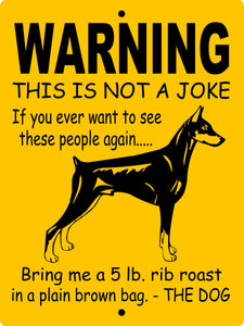 DOBERMAN PINSCHER ALUMINUM DOG SIGNS WNAJDP