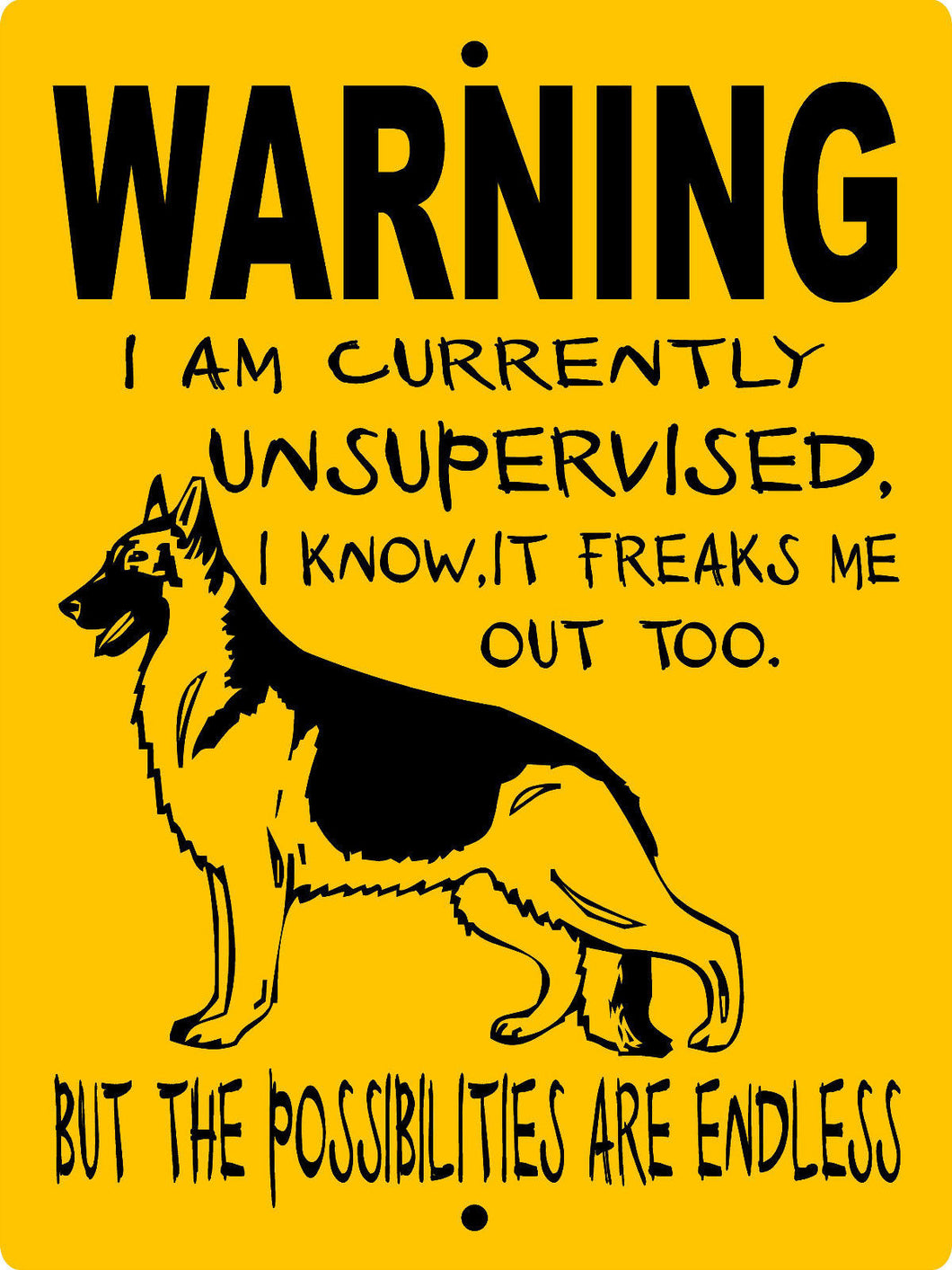 GERMAN SHEPHERD DOG SIGN WUS1