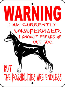 DOBERMAN PINSCHER ALUMINUM DOG SIGNS WUS1DP2C