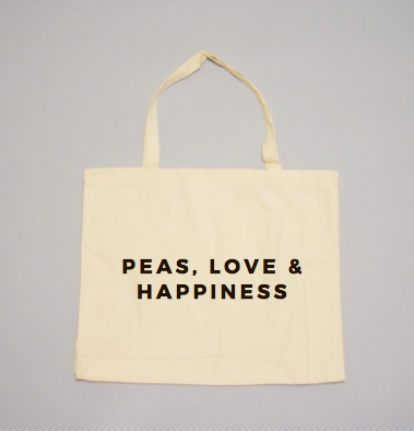 Peas, Love & Happiness Tote