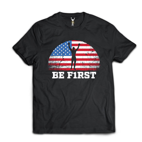 BE F1RST USA SLY STALLONE T SHIRT. OFFICIAL SLY STALLONE