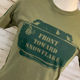Front Toward Snowflake Graphic Tee