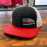 Support Red Embroidered Hat