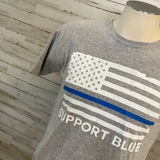 Support Blue Youth Graphic Tee
