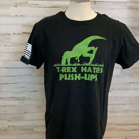 T-Rex Hates Push-Ups Graphic Tee