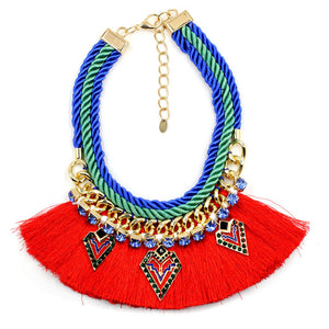 Tribal Vibe Bohemian Statement Necklace