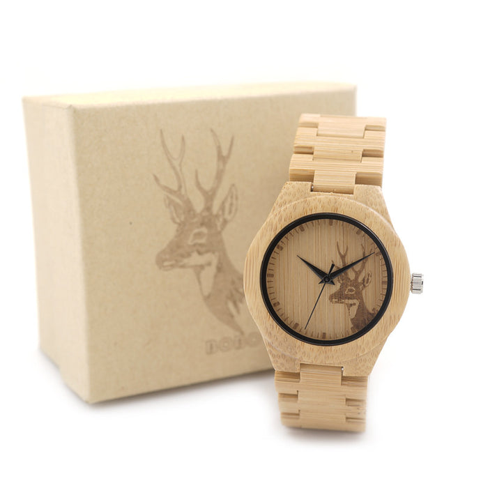 BOBO BIRD Forest Creature Handmade Bamboo Watch