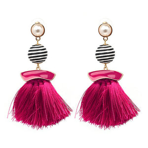 My Precious Boho Pearl Tassel Earrings