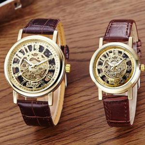 Classic Hollow Skeleton Couple Watches