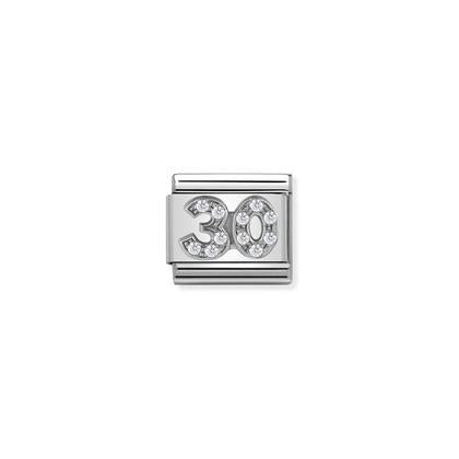 Silver & Cubic Zirconia - Age 30 Charm By Nomination Italy from Nomination only 27.00 GBP