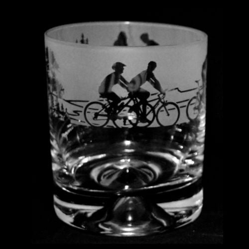 Whiskey Tumbler - Cycling from milford glass only 14.99 GBP