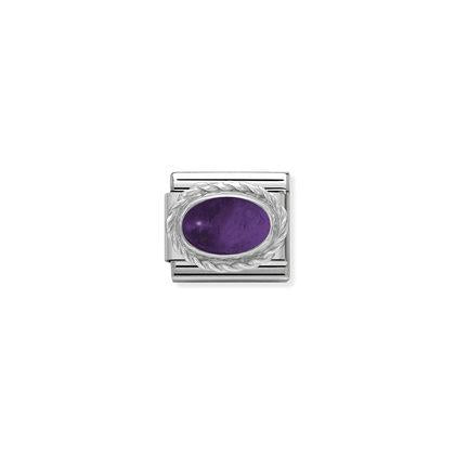 Silver Stones - Amethyst Charm By Nomination Italy from Nomination only 20.00 GBP