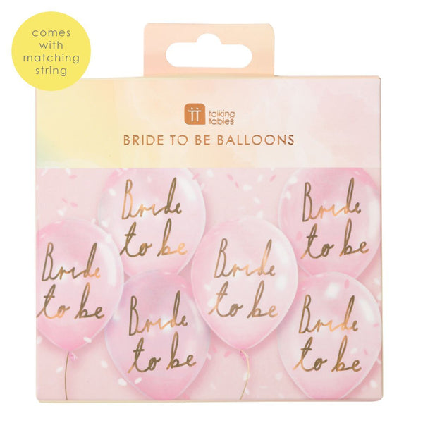 Bride To Be Balloons from TALKING TABLES only 5.50 GBP