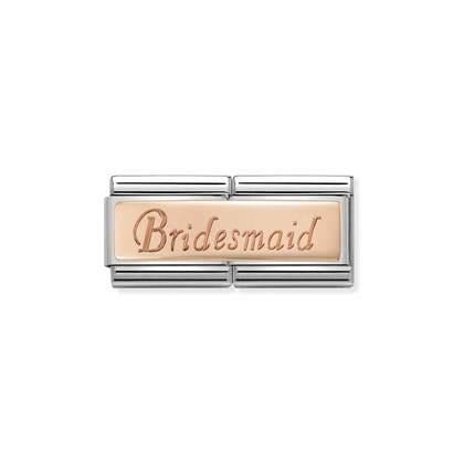 Rose Gold Double - Bridesmaid charm By Nomination Italy from Nomination only 36.00 GBP